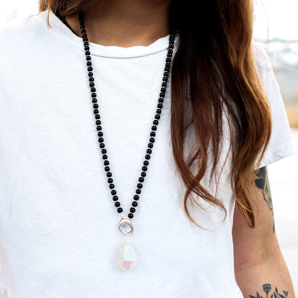 Black Obsidian Limitless Mala - Mala Beads Meditation Accessories and Yoga Jewelry by Tiny Devotions