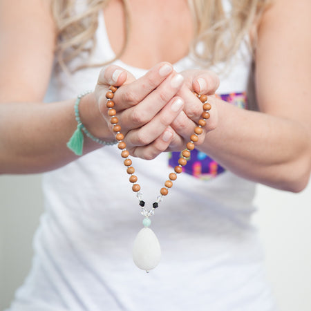 Trust the Process Mala - Tiny Devotions Gemstone 108 Mala Beads Intentional Jewelry