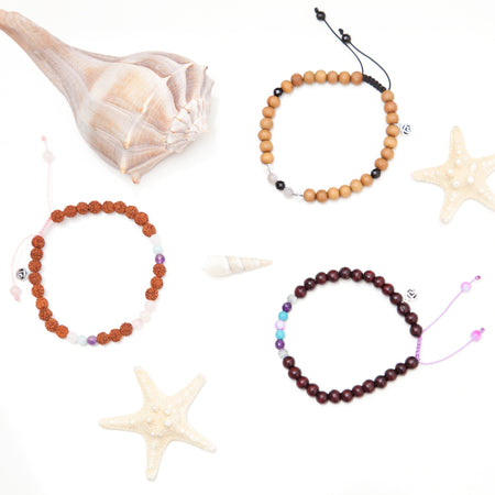 Strength Mala Anklet - Tiny Devotions Gemstone 108 Mala Beads Intentional Jewelry