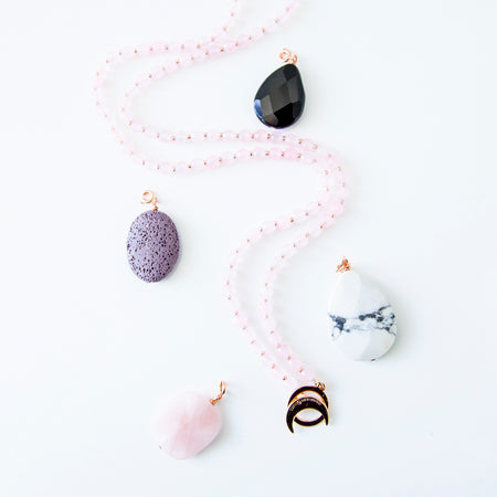 Limitless Amplifier Bundle - Rose Gold - Tiny Devotions Gemstone 108 Mala Beads Intentional Jewelry