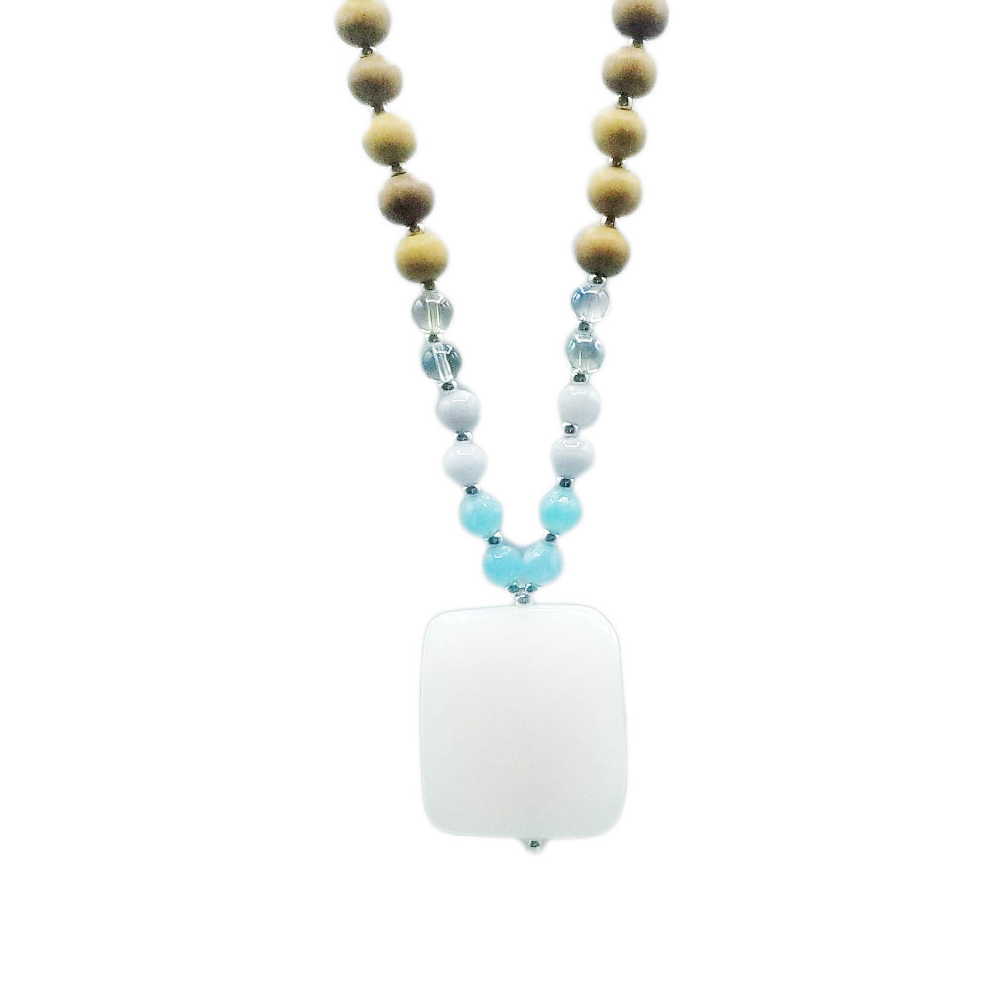 The Air Element Mala Necklace - Mala Beads Meditation Accessories and Yoga Jewelry by Tiny Devotions