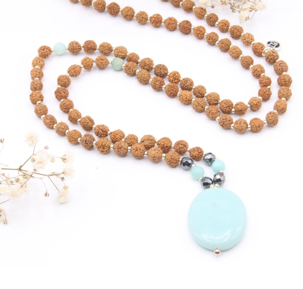 Truth Seeker Mala by Katie Brauer - Mala Beads Meditation Accessories and Yoga Jewelry by Tiny Devotions
