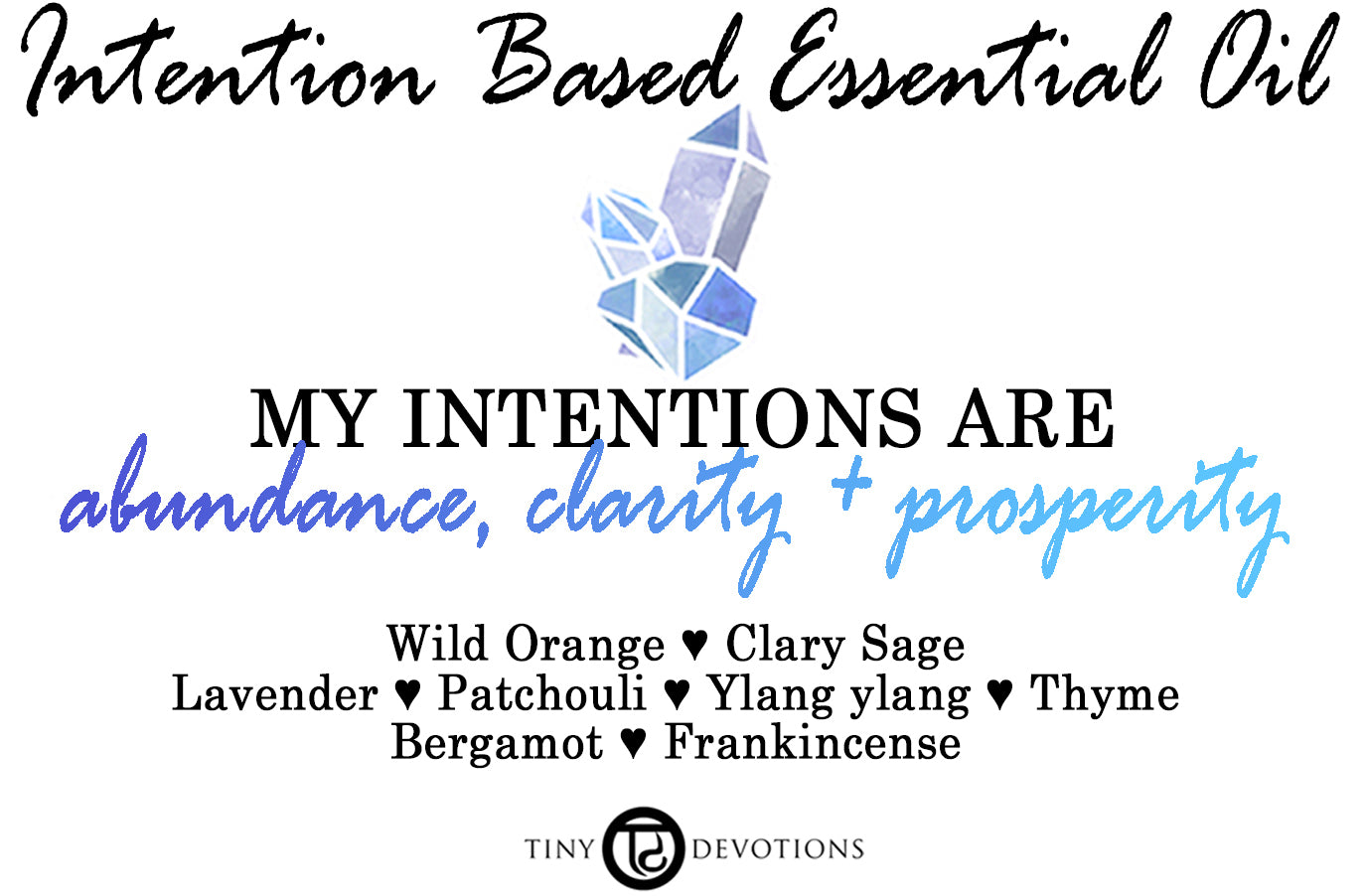 Abundance, Clarity + Prosperity Intention Based Essential Oil