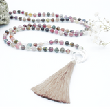 Abundance Silk Tassel - Tiny Devotions Gemstone 108 Mala Beads Intentional Jewelry