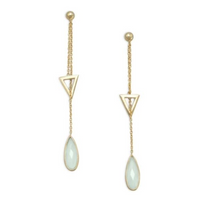 True Self Chalcedony Drop Earrings
