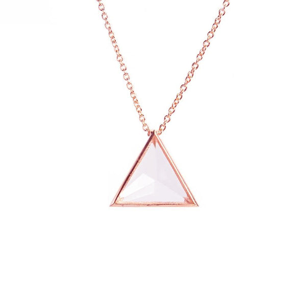 Clarity Necklace - Rose Gold