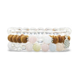 Compassion Stack - Tiny Devotions Gemstone 108 Mala Beads Intentional Jewelry
