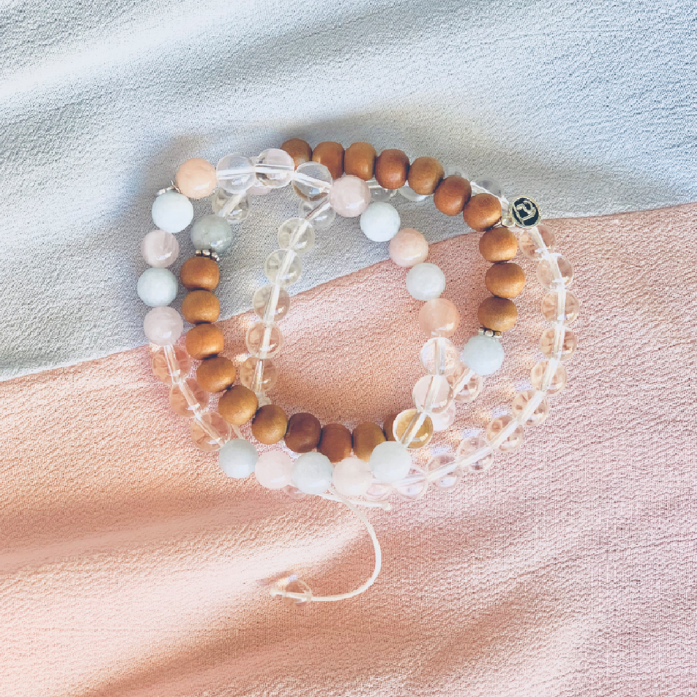 Compassion Stack - Mala Beads Meditation Accessories and Yoga Jewelry by Tiny Devotions