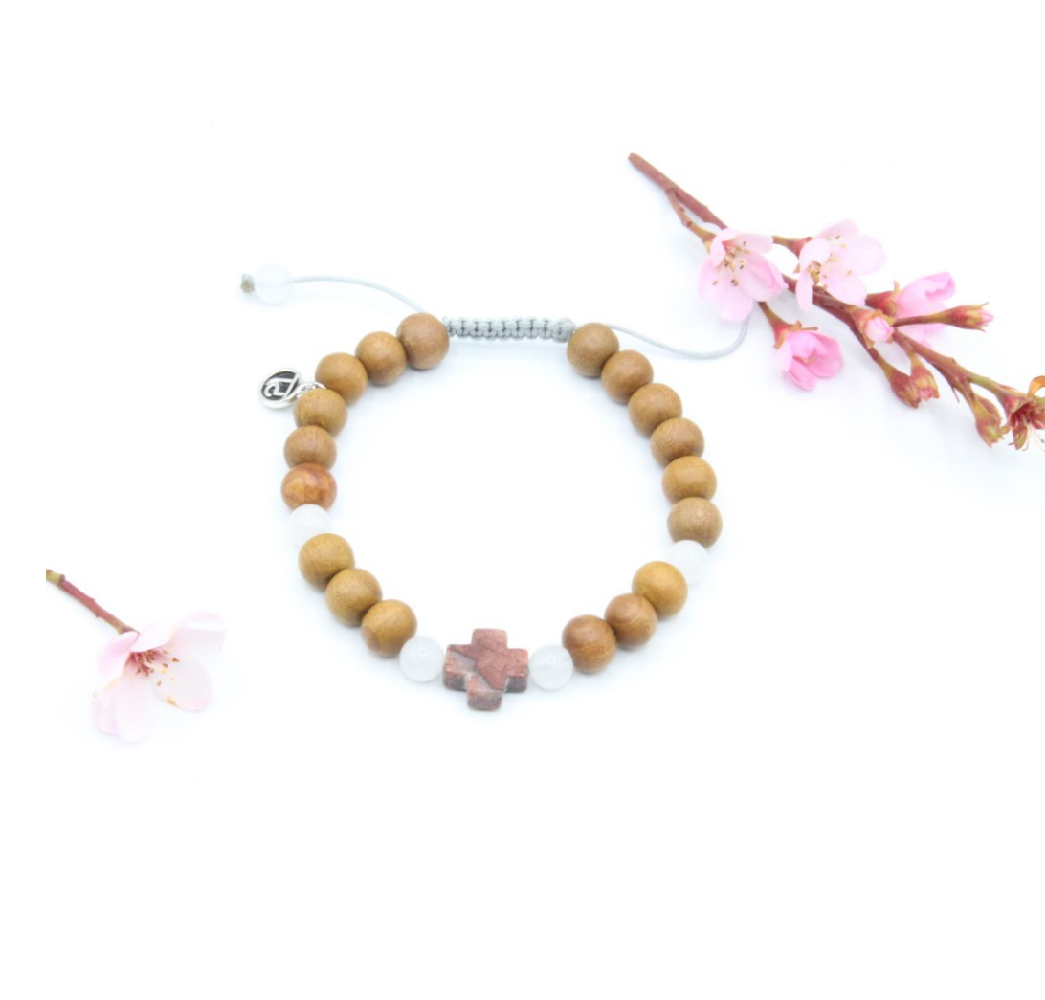 Salt + Light Mala Bracelet - Mala Beads Meditation Accessories and Yoga Jewelry by Tiny Devotions