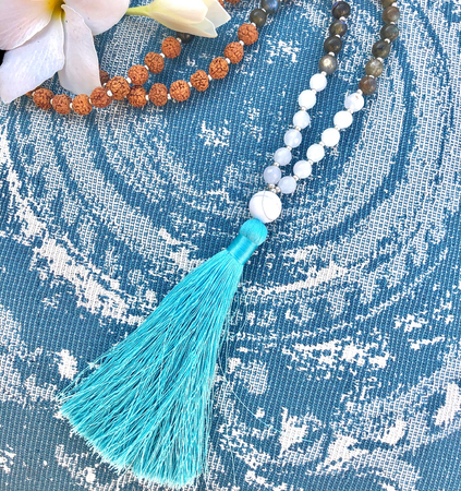 Dream Seeker Mala - Tiny Devotions Gemstone 108 Mala Beads Intentional Jewelry