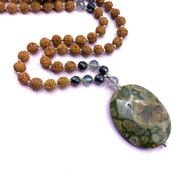Survivor Mala Bead Necklace - Tiny Devotions Gemstone 108 Mala Beads Intentional Jewelry