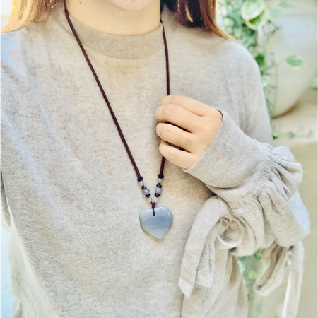 Gray Agate Heart Detox Necklace - Mala Beads Meditation Accessories and Yoga Jewelryby Tiny Devotions