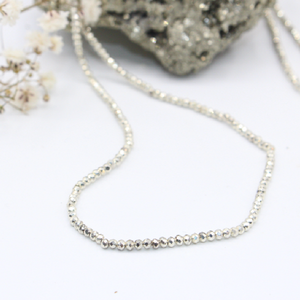 Simplicity Silver Necklace - Tiny Devotions Gemstone 108 Mala Beads Intentional Jewelry