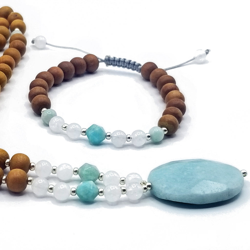 Infinite Possibilities Mala - Tiny Devotions Gemstone 108 Mala Beads Intentional Jewelry
