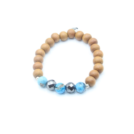Communication Kids Mala Bracelet - Tiny Devotions Gemstone 108 Mala Beads Intentional Jewelry