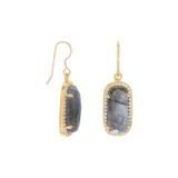 Persevere Labradorite Earrings - Tiny Devotions Gemstone 108 Mala Beads Intentional Jewelry