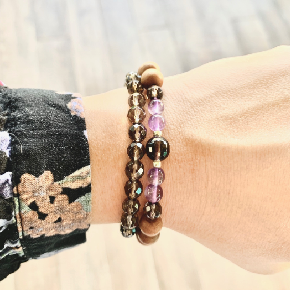 Let It Go Bracelet Stack - Mala Beads Meditation Accessories and Yoga Jewelry by Tiny Devotions
