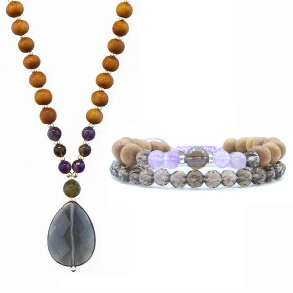 Let It Go Mala Bundle - Mala Beads Meditation Accessories and Yoga Jewelryby Tiny Devotions