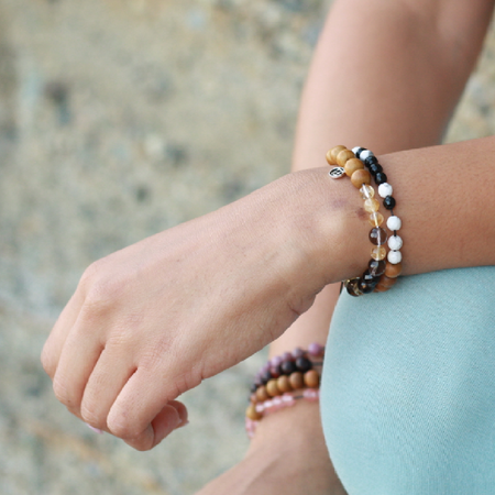 Live Abundantly Mala Bracelet - Mala Beads Meditation Accessories and Yoga Jewelryby Tiny Devotions