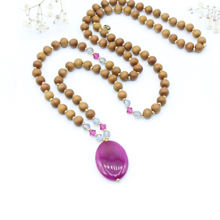 Love Mala - Tiny Devotions Gemstone 108 Mala Beads Intentional Jewelry