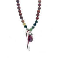 Mookaite Determination Mala Bead Necklace