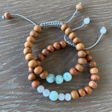 Nurture Mala Bracelet Stack - Tiny Devotions Gemstone 108 Mala Beads Intentional Jewelry