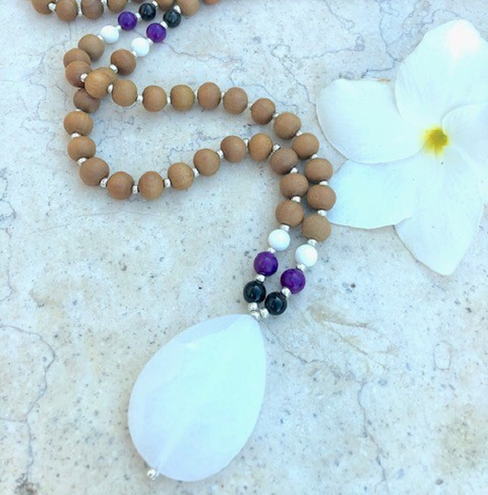 Peace Mala - Tiny Devotions Gemstone 108 Mala Beads Intentional Jewelry