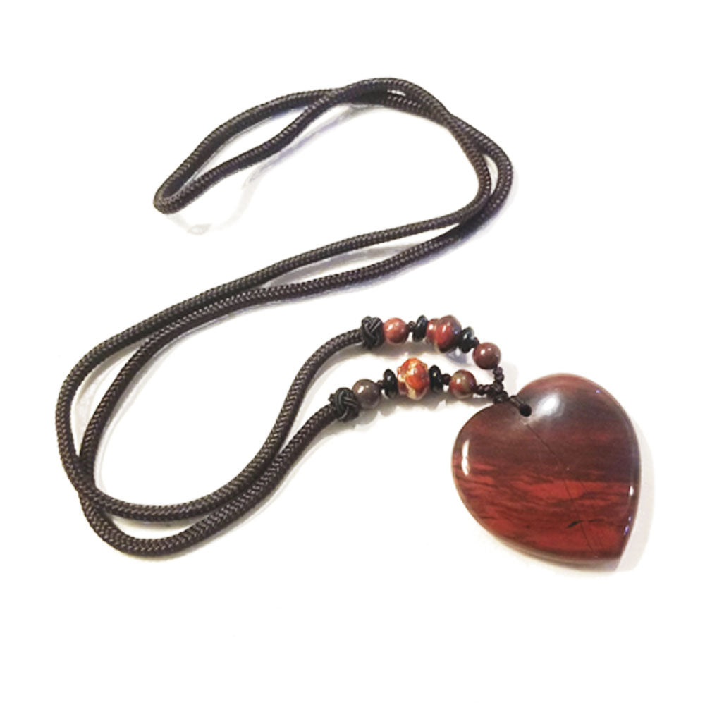 Red Jasper Heart Detox Necklace - Tiny Devotions Gemstone 108 Mala Beads Intentional Jewelry