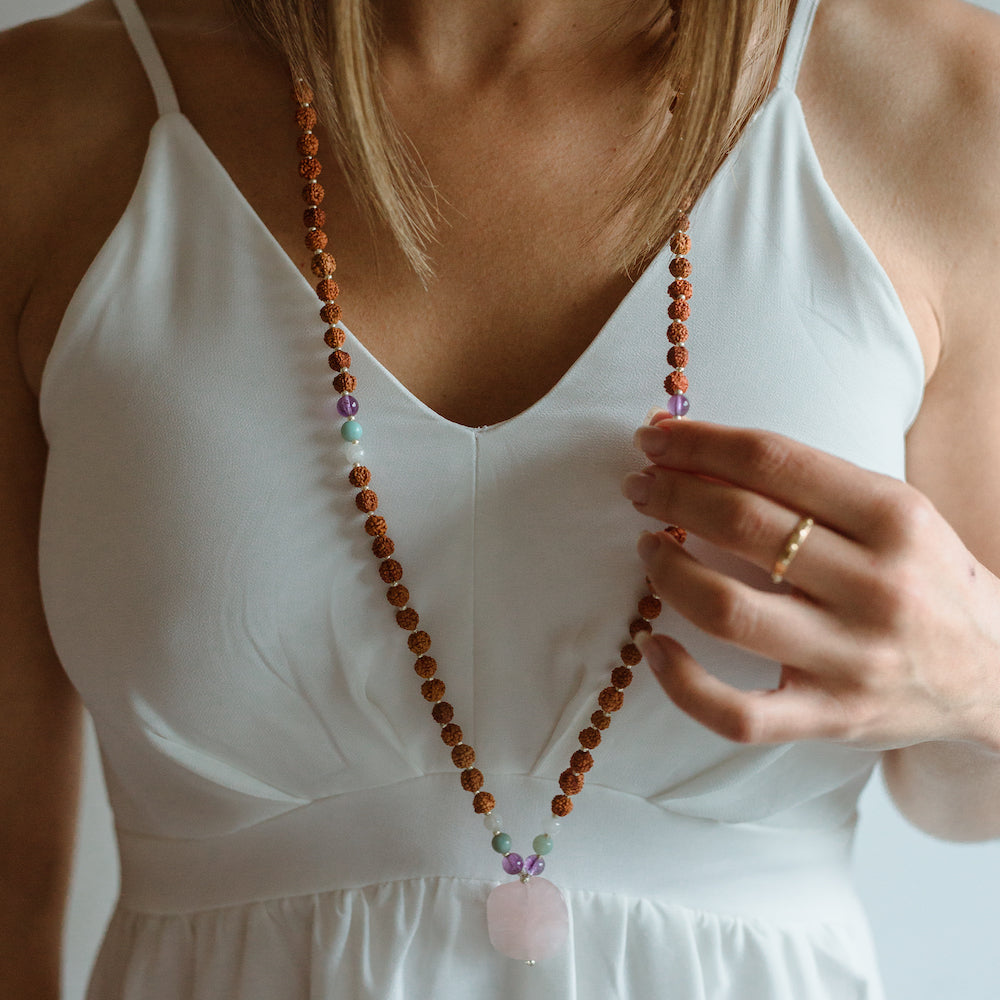 Shanti Mala - Mala Beads Meditation Accessories and Yoga Jewelry by Tiny Devotions