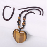 Tiger's Eye Heart Detox Necklace - Tiny Devotions Gemstone 108 Mala Beads Intentional Jewelry