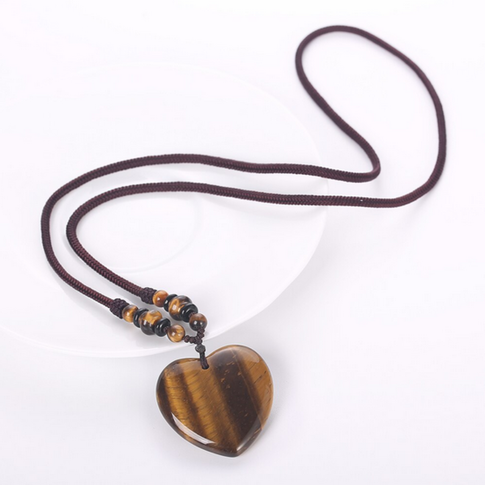 Tiger's Eye Heart Detox Necklace - Mala Beads Meditation Accessories and Yoga Jewelry by Tiny Devotions