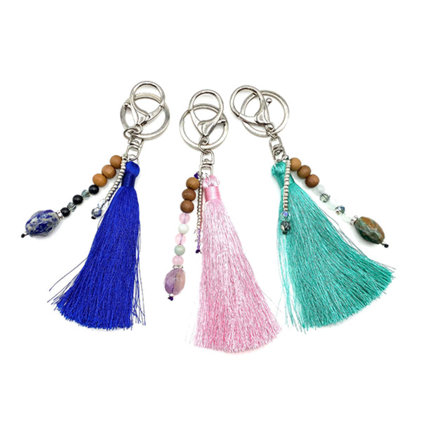 Tote Bag Charm - Mala Beads Meditation Accessories and Yoga Jewelryby Tiny Devotions