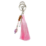 Tote Bag Pink Tassel Bundle - Tiny Devotions Gemstone 108 Mala Beads Intentional Jewelry