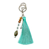Tote Bag Teal Tassel Bundle - Mala Beads Meditation Accessories and Yoga Jewelryby Tiny Devotions