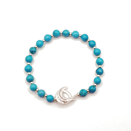 Turquoise Limitless Bracelet - Mala Beads Meditation Accessories and Yoga Jewelryby Tiny Devotions