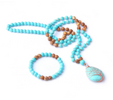 My Serenity Mala Bead Necklace - Tiny Devotions Gemstone 108 Mala Beads Intentional Jewelry