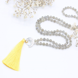 Optimism Silk Tassel - Mala Beads Meditation Accessories and Yoga Jewelryby Tiny Devotions