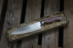 Santoku - Purple Heart og Messing