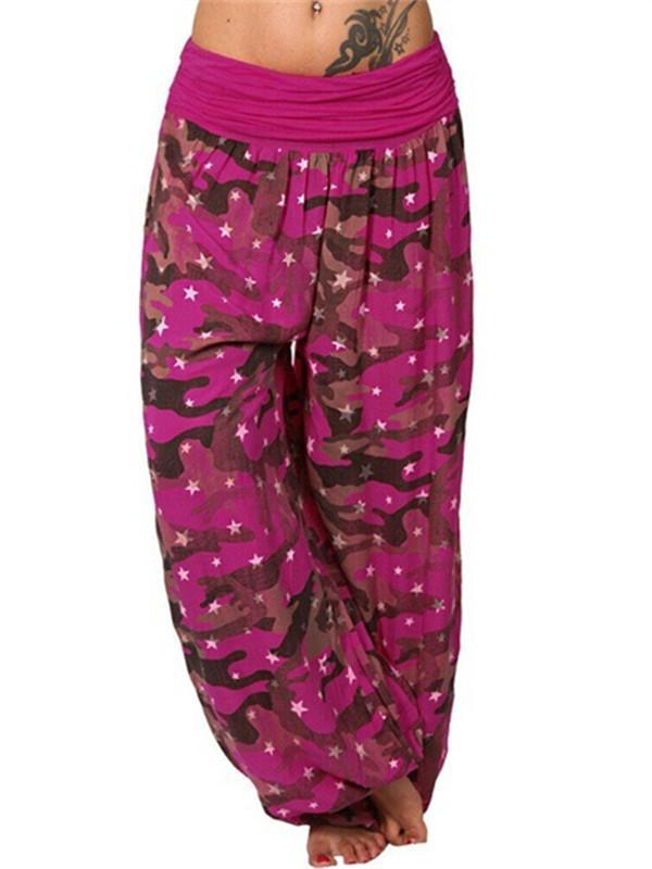 Fashion Casual Loose Printed Trousers