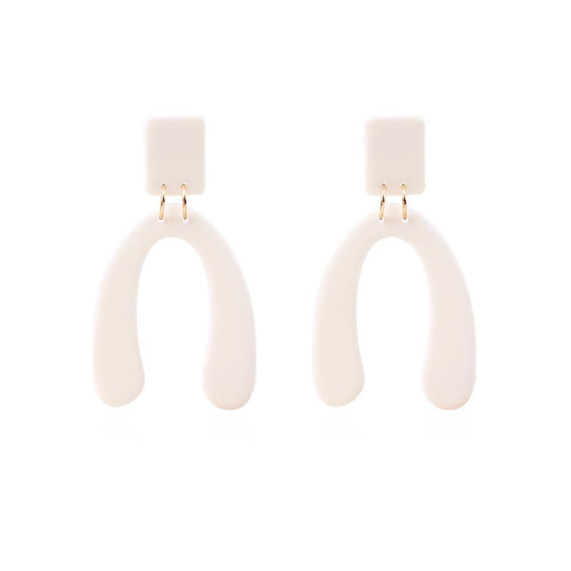 Acrylic Irregular Personality Temperament Earrings