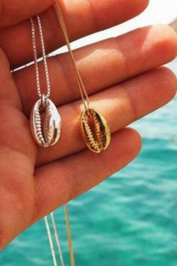 Elegant Hawaiian Alloy Short Clavicle Shell Necklace