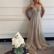 Fashion Sexy Sequined Princess Evening Dress