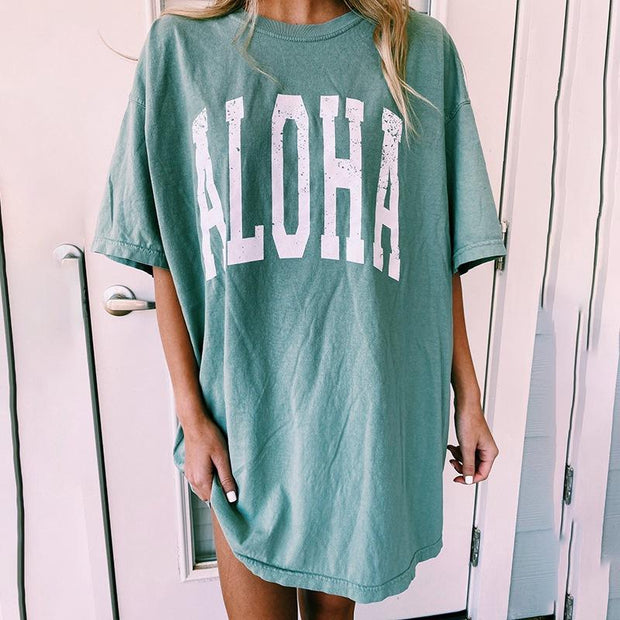 Short Sleeve Loose Letter Printed T-Shirt