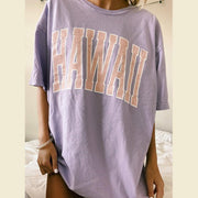 Loose Letter Printed Casual T-Shirt