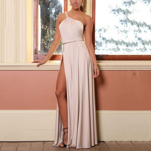 Halter Sexy Backless Off-the-shoulder Evening Dress