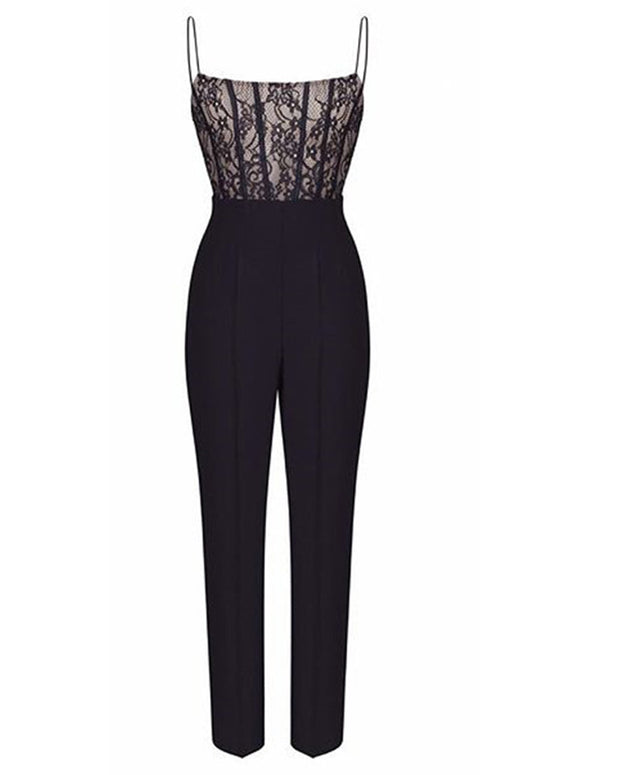 Sexy Lace Suspender Sleeveless Jumpsuit