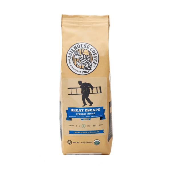 Jailhouse Great Escape Organic Blend Medium Roast Coffee (12oz / 340g)