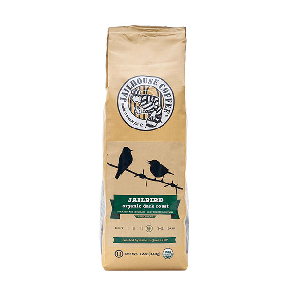 Jailhouse Jailbird Organic Dark Roast Coffee (12oz / 340g)