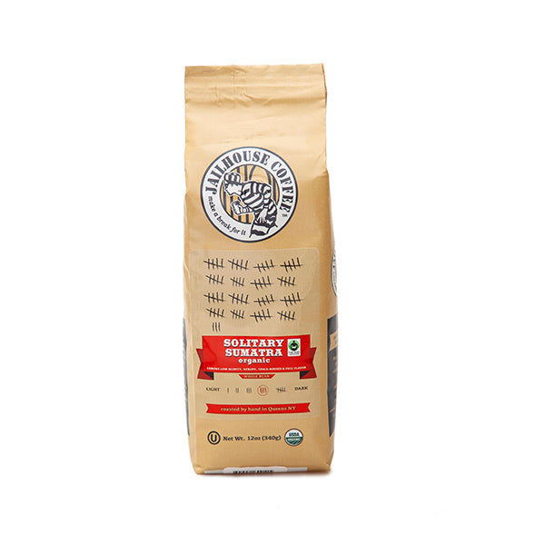 Jailhouse Solitary Sumatra Organic Coffee Dark Roast 蘇門答臘有機及公平交易深烘培咖啡 (340g / 克)