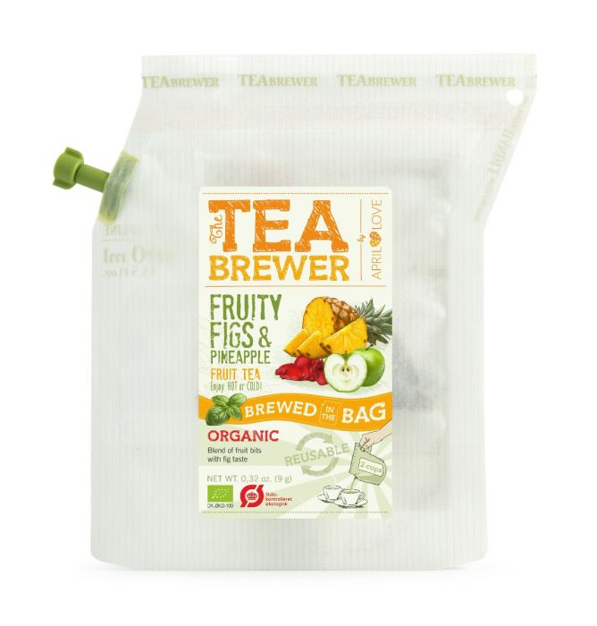 April Love Teabrewer – Fruity Figs & Pineapple Organic Fruit Tea (7 Pcs)